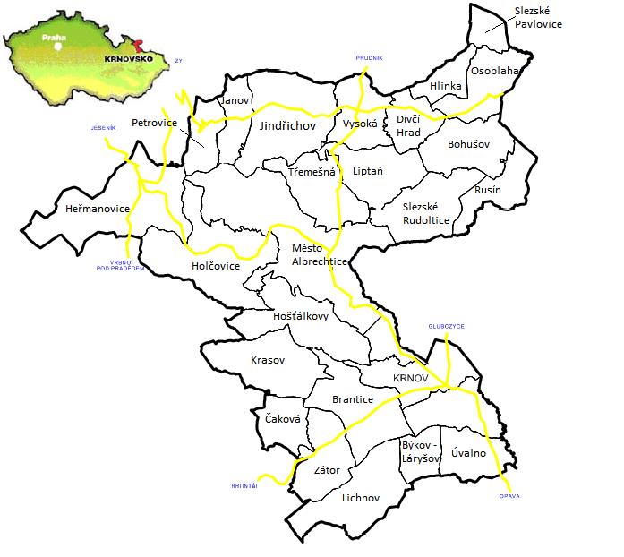 Mapa územi MAS